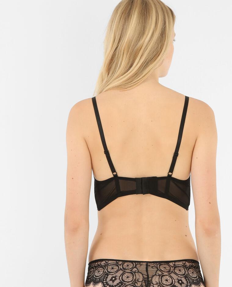 Soutien-gorge corset en dentelle noir