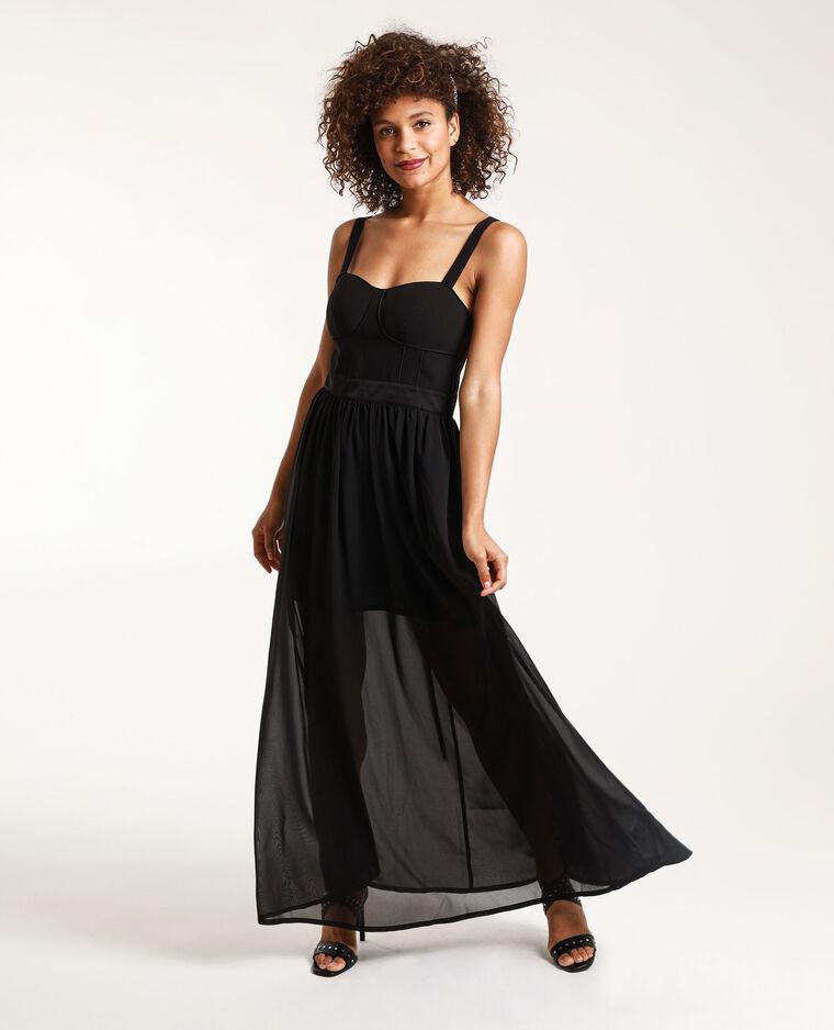 Robe Longue Stephanie Durant X Pimkie Noir 781356899a08 Pimkie