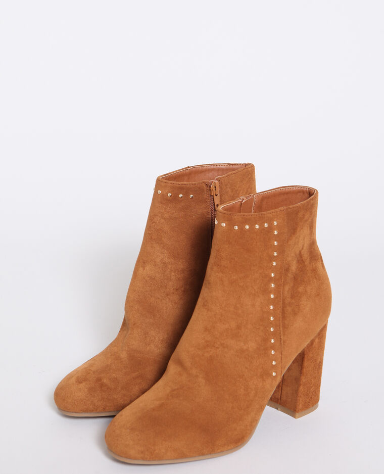 Bottines cloutées marron - Pimkie