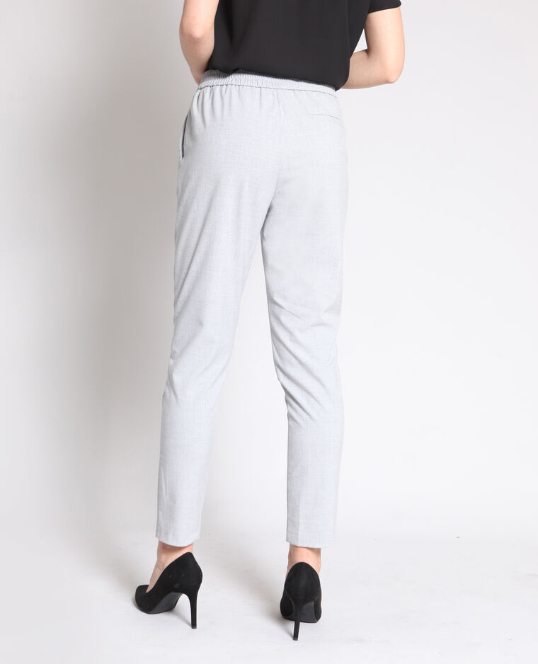 Pantalon city gris chiné