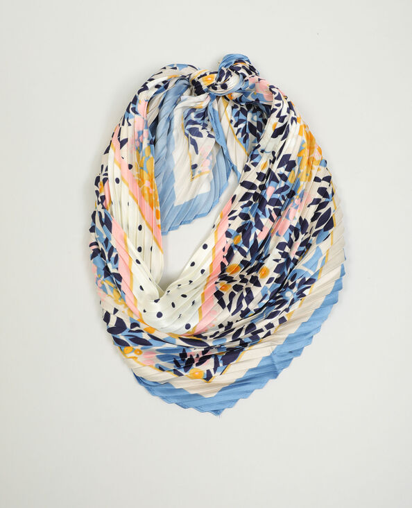 Foulard fleuri bleu