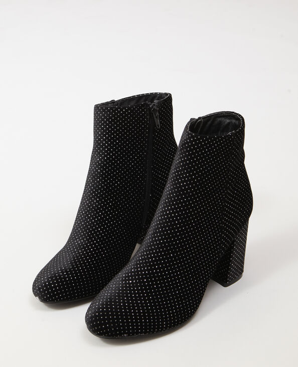 Bottines à strass noir