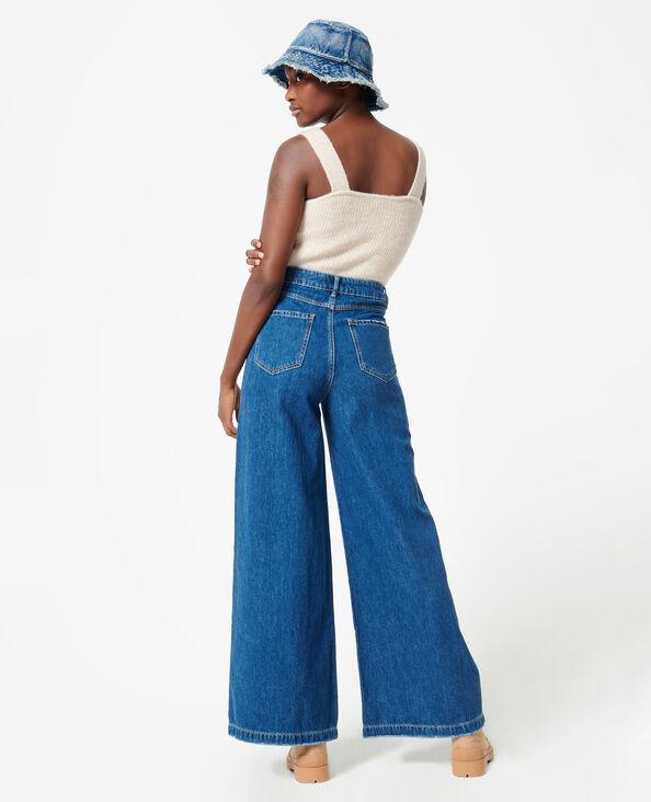 Jean wide taille haute bleu denim - Pimkie