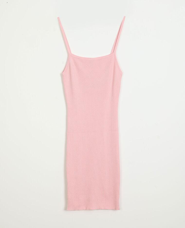 Robe côtelée à fines bretelles rose - Pimkie