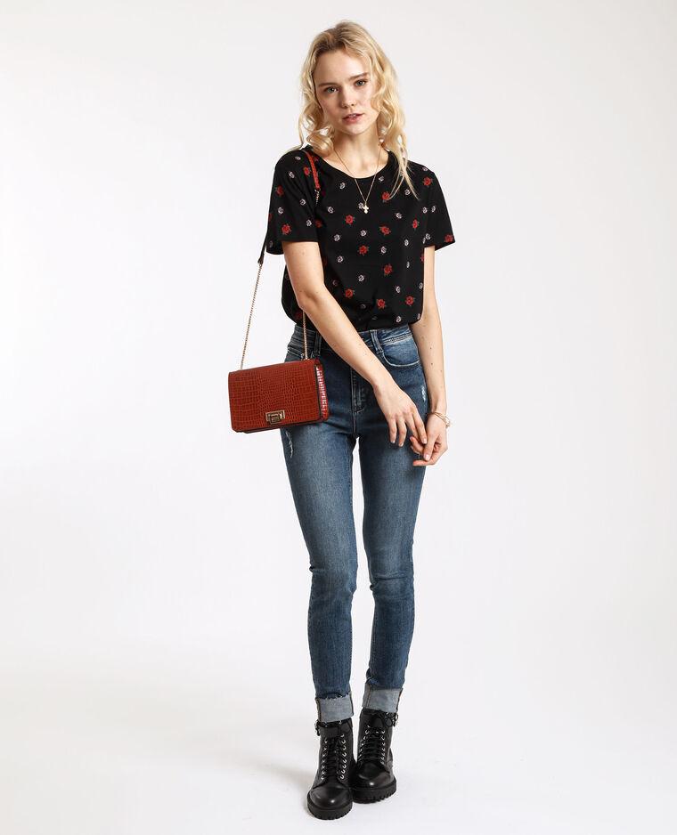 T-shirt graphique noir + rouge