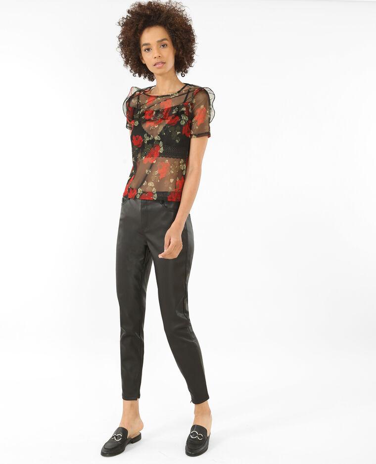 Pantalon en simili cuir noir - Pimkie