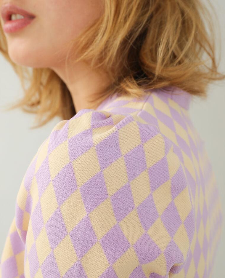 Gilet losange violet - Pimkie