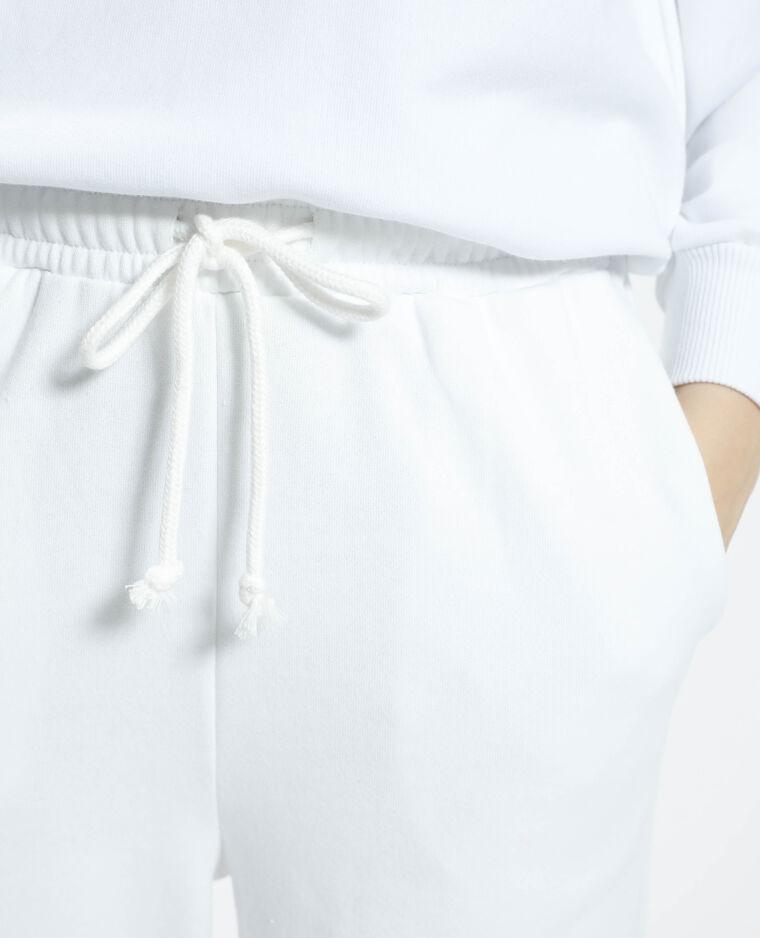 Jogging molletonné blanc - Pimkie
