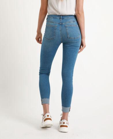 Jean skinny clouté bleu denim