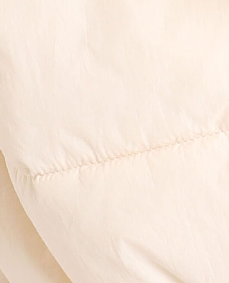Doudoune à capuche blanc cassé