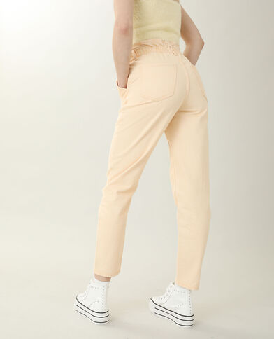 Jean mom high waist orange