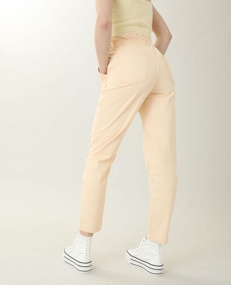 Jean mom high waist orange