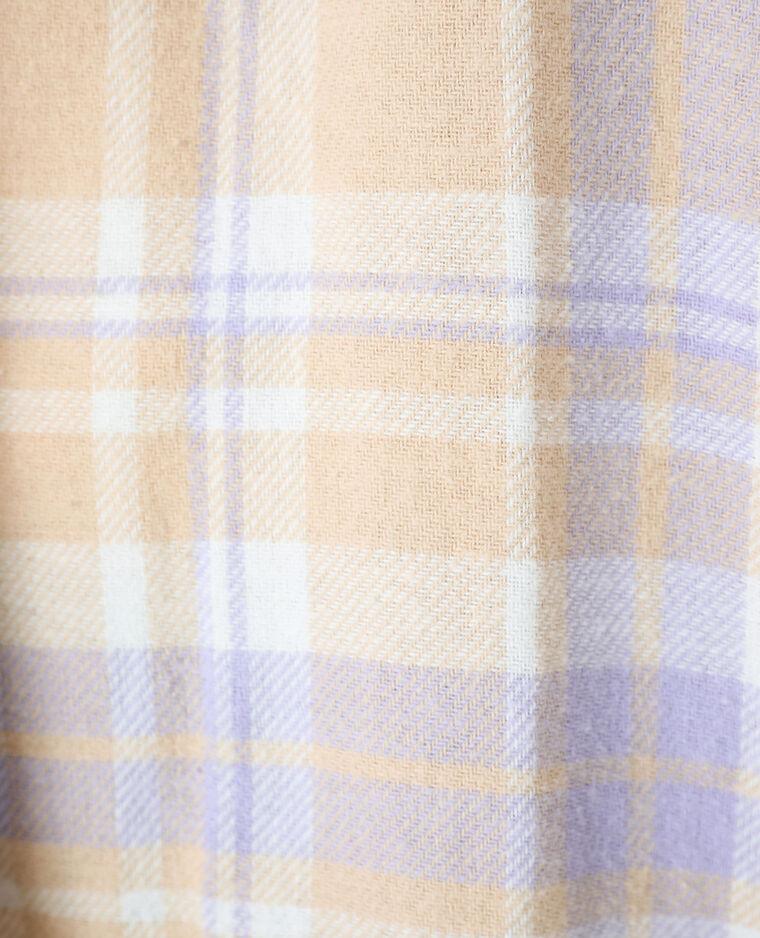 Chemise longue oversize beige