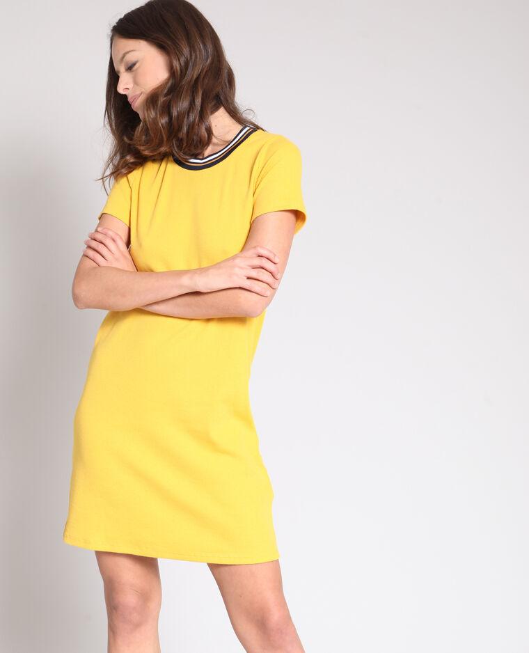 Robe t-shirt jaune