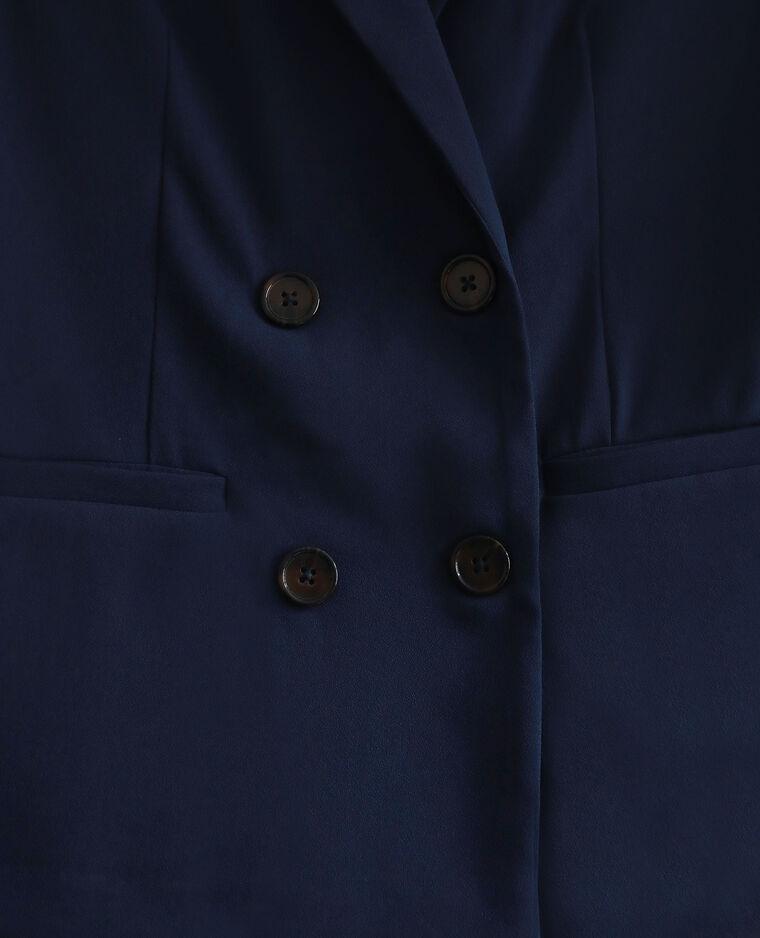Blazer manches 3/4 bleu marine