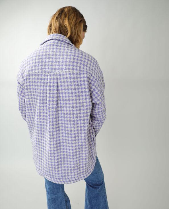Surchemise en tweed violet - Pimkie