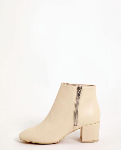 Boots vintage blanc cassé