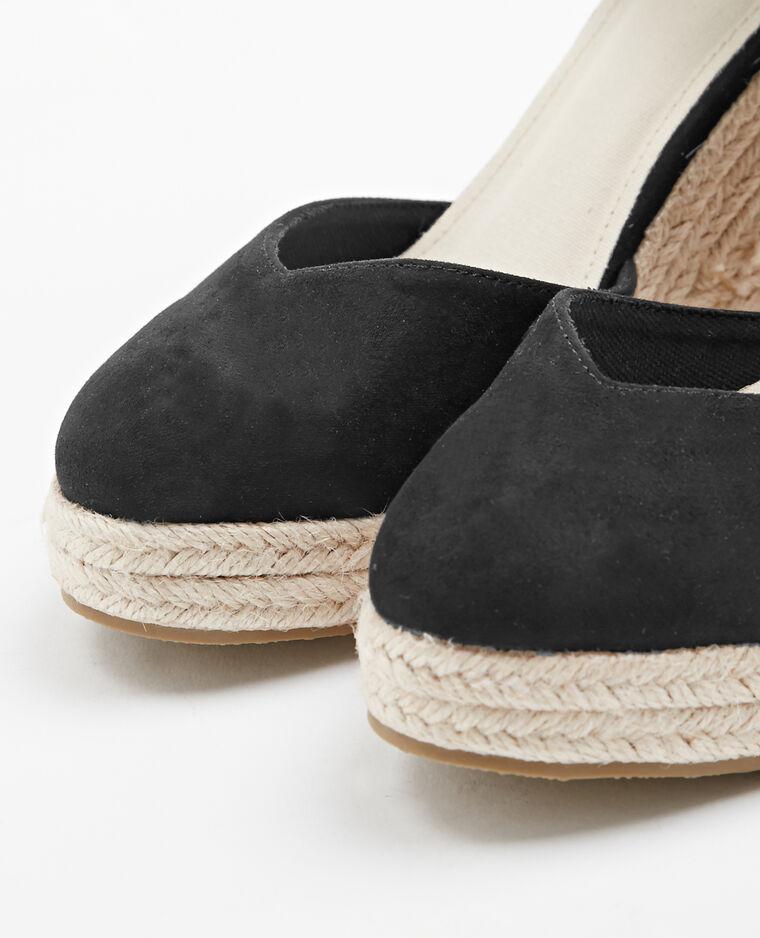 Sandales compensées noir