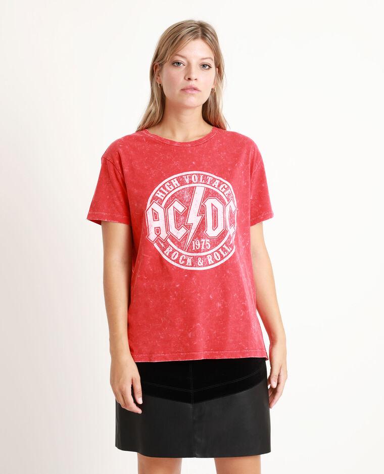 T-shirt AC/DC rouge