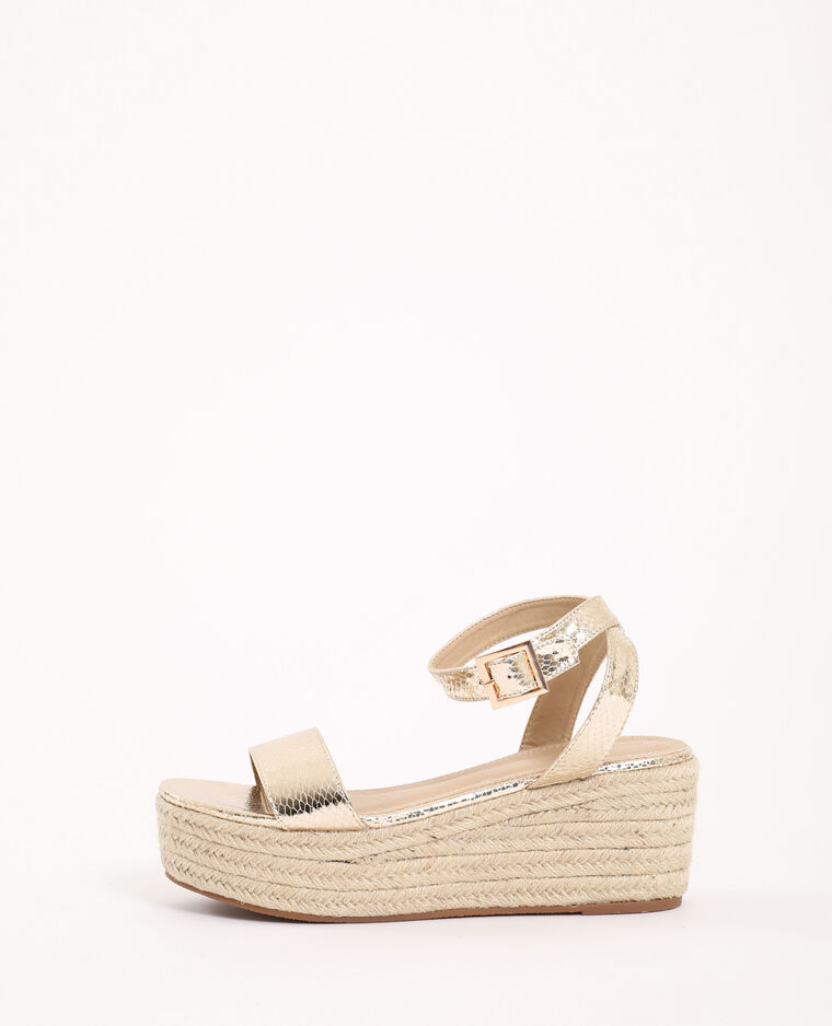 Sandales Compensées En Paille Doré 917618099a0g Pimkie