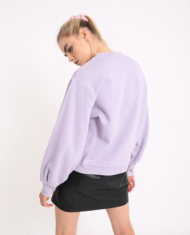 Sweat manches bouffantes violet