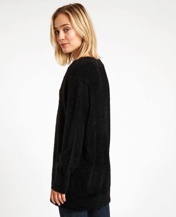Pull oversized fluffy noir