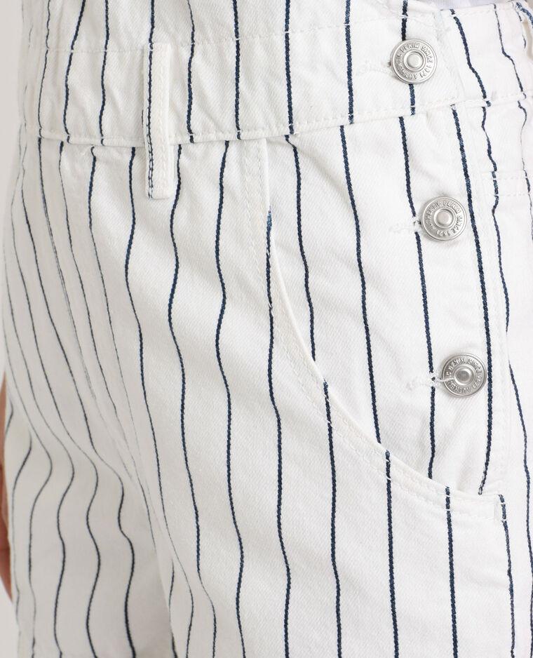 Salopette en jean rayée blanc