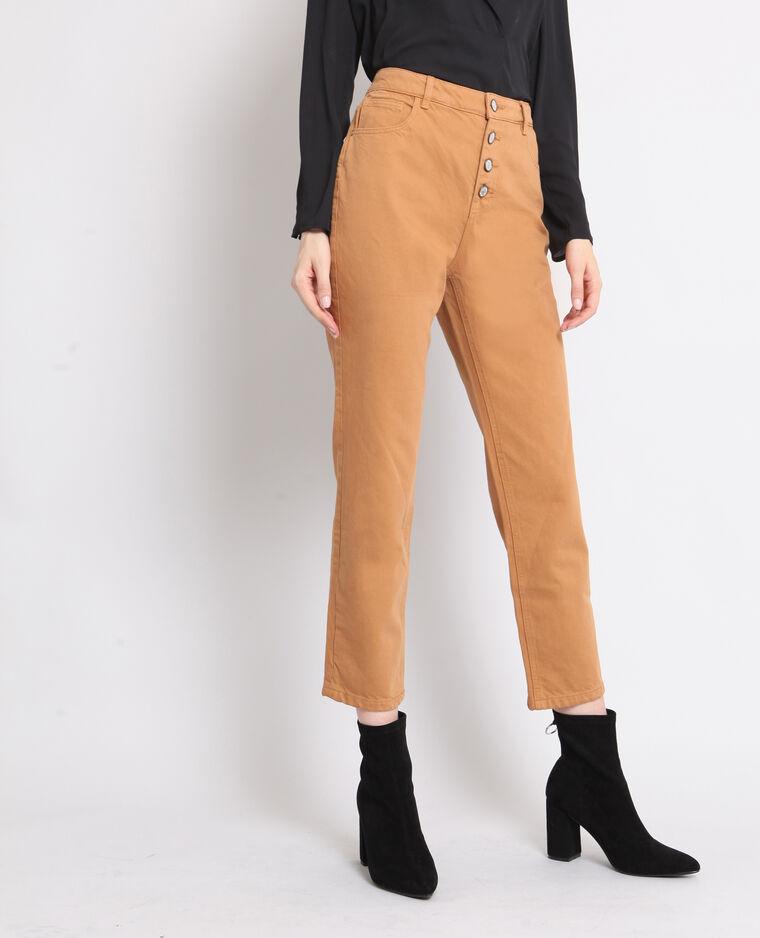 Pantalon boutonné camel