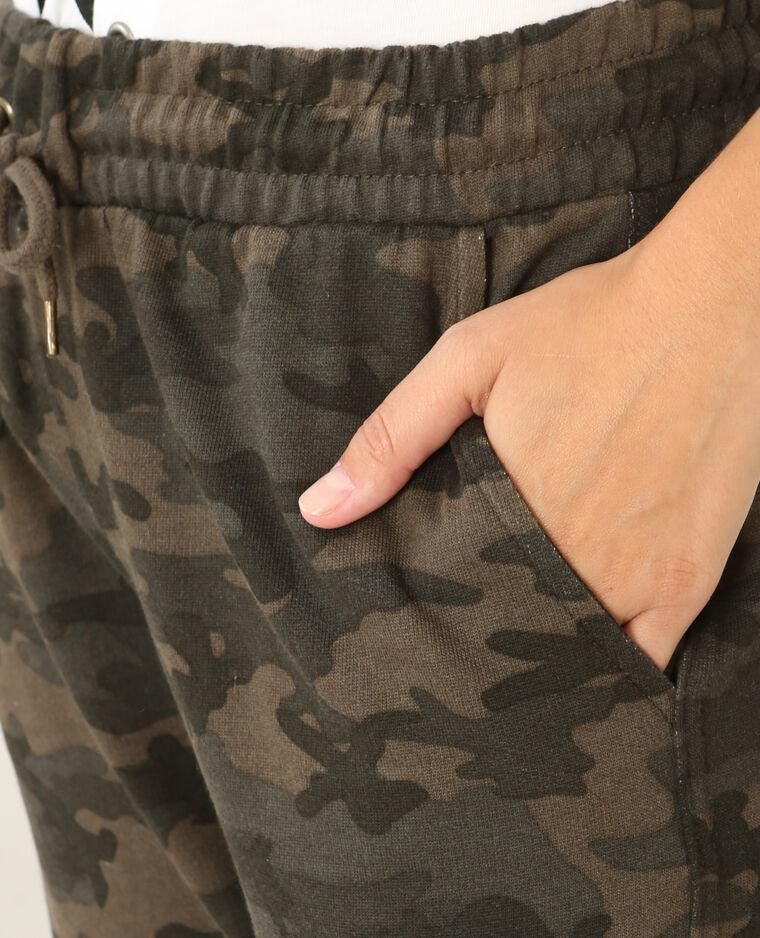 Jogging camouflage vert - Pimkie
