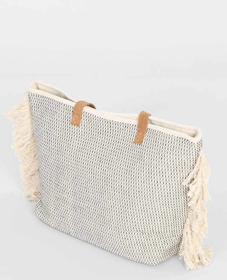 Grand sac cabas sequins blanc