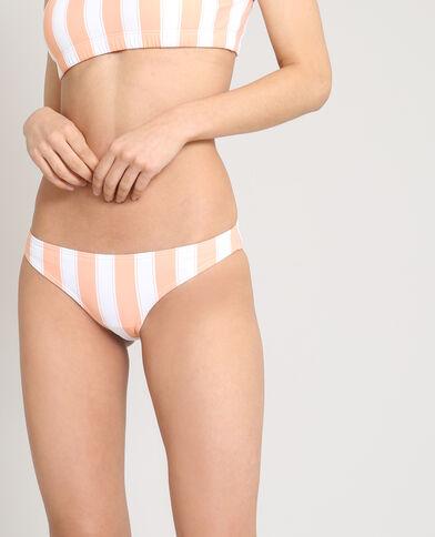 Bas de bikini à rayures blanc