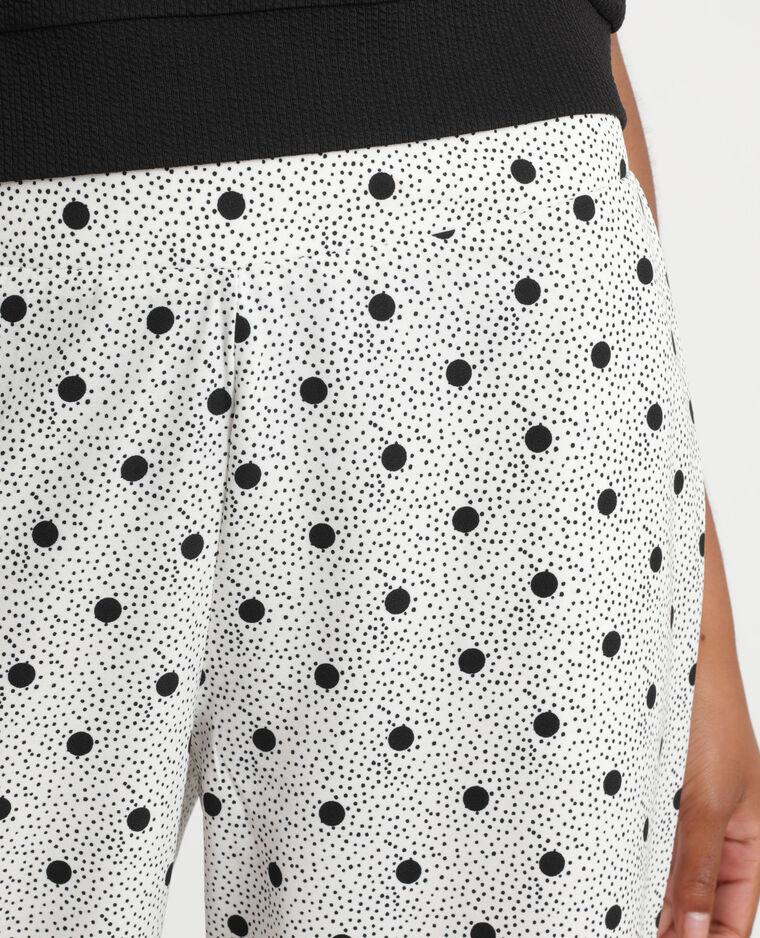 Pantalon fluide à pois blanc - Pimkie