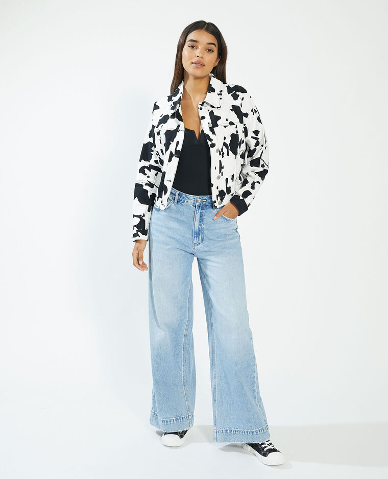Veste en jean vachette blanc - Pimkie