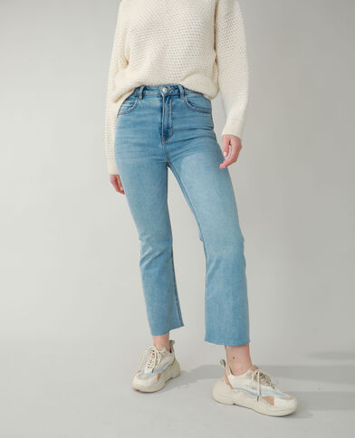 Jean flare high waist bleu clair