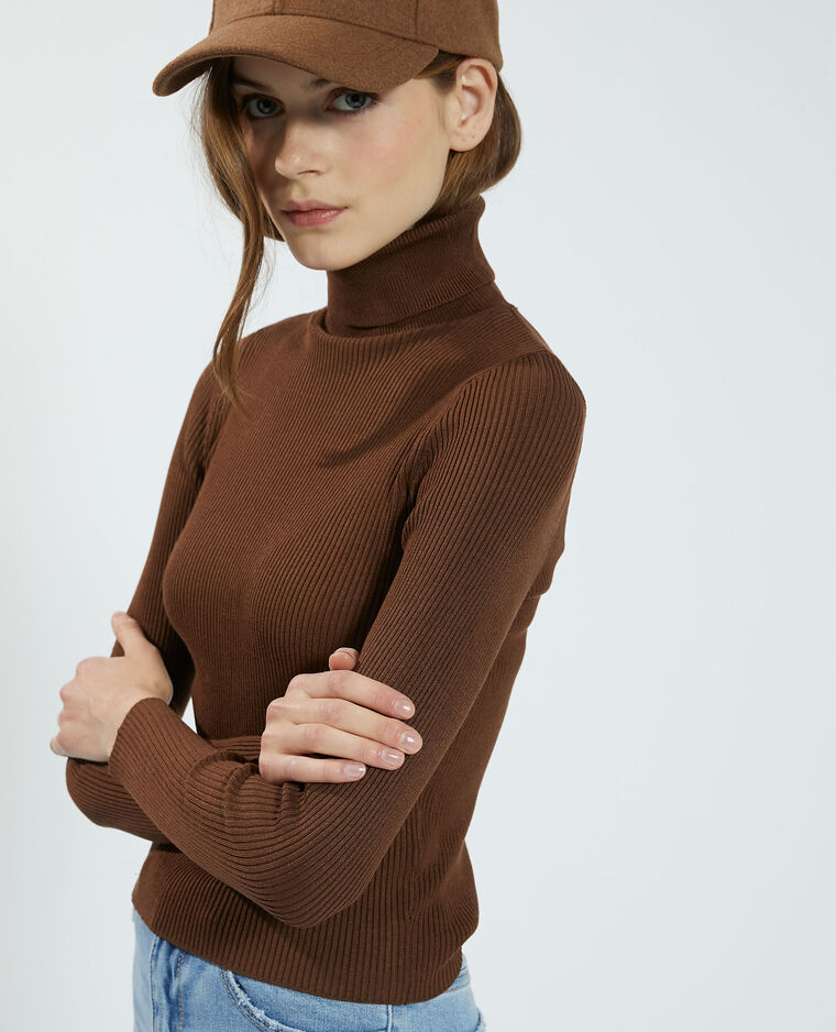 Pull côtelé marron - Pimkie