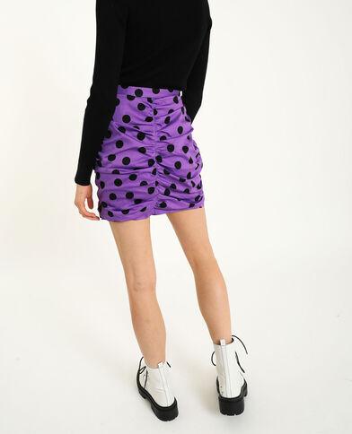 Jupe froncée violet