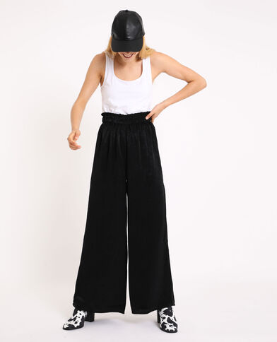 Pantalon large noir