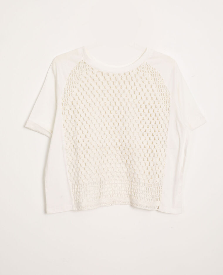 Top en crochet blanc - Pimkie
