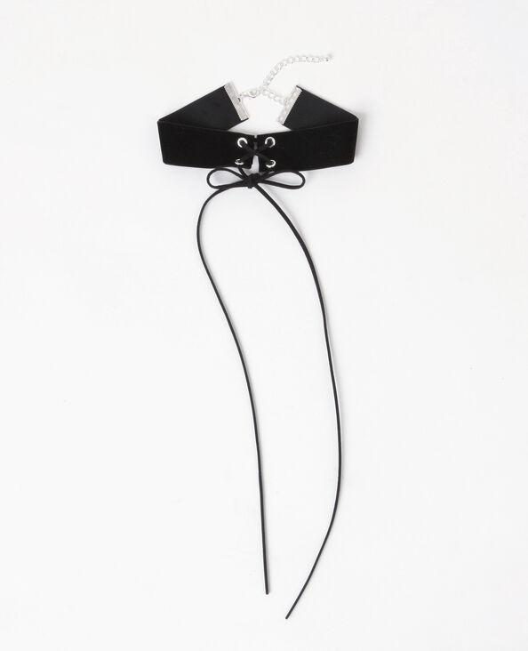 Collier choker à lacet noir - Pimkie