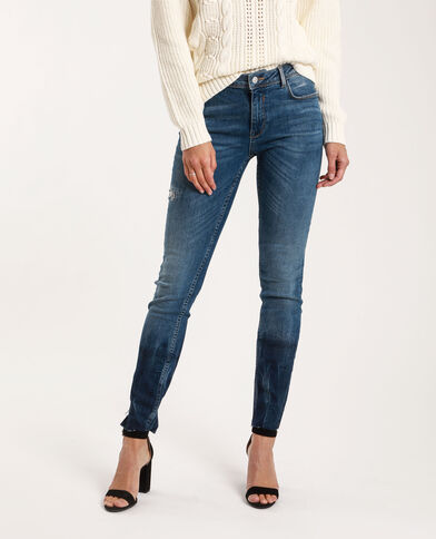 Jean skinny mid waist bleu denim