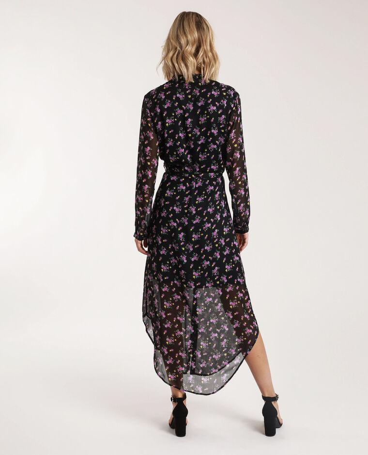 Robe Longue A Fleurs Noir 781373899i08 Pimkie