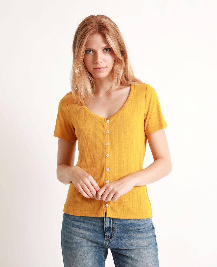 T-shirt à manches courtes jaune - Pimkie