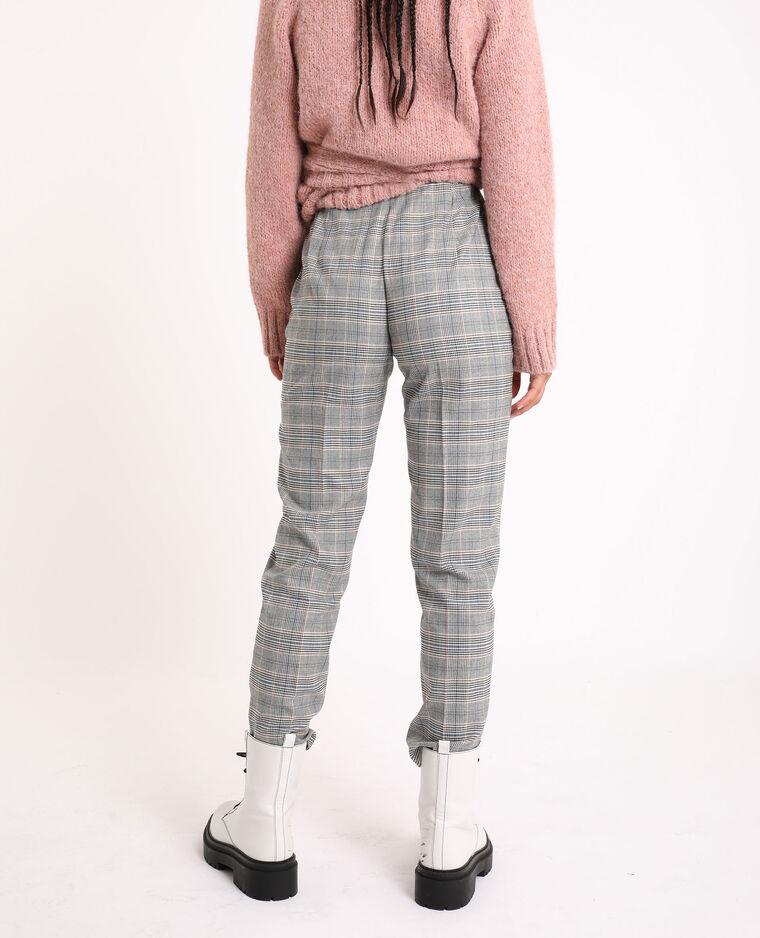 Pantalon à carreaux bleu