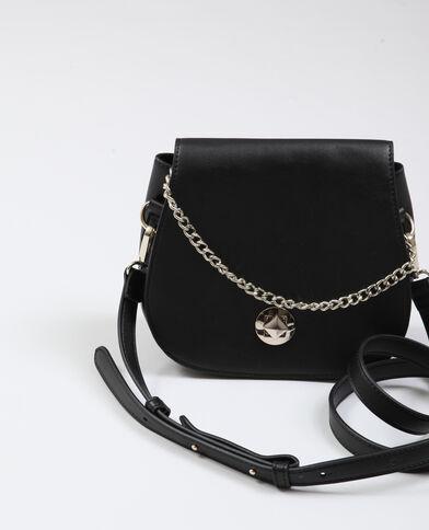 Petit sac en faux cuir noir - Pimkie