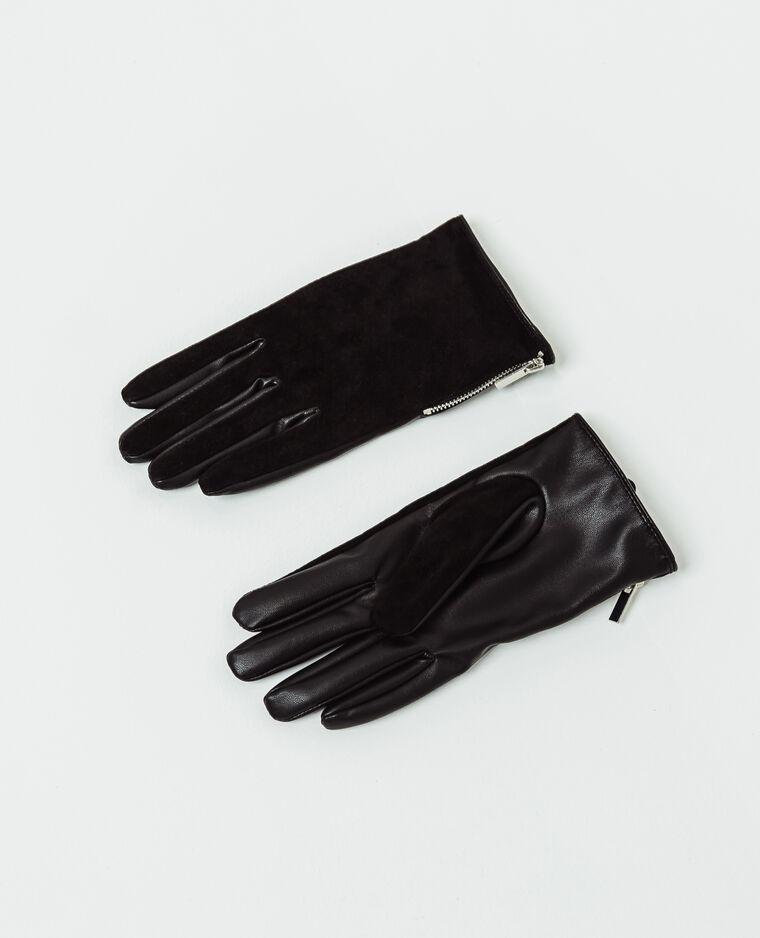 Gants zippés noir