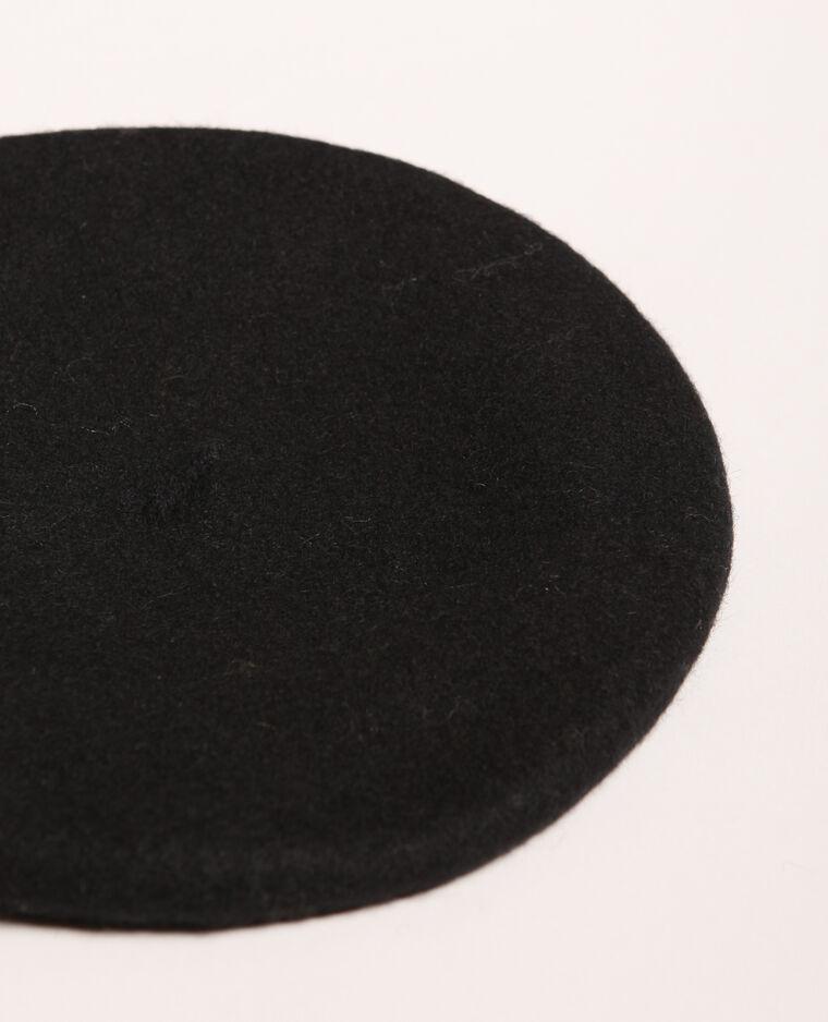 Beret en laine noir