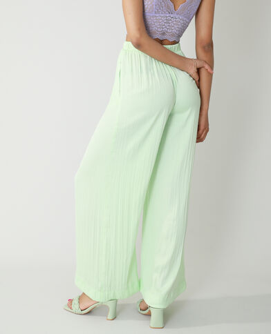 Pantalon wide leg plissé vert - Pimkie