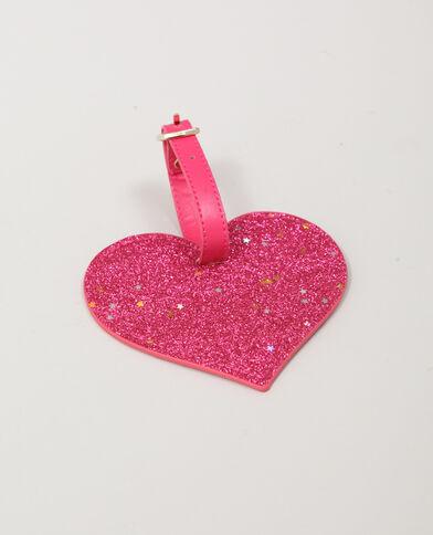 Etiquette porte-nom pour bagage rose