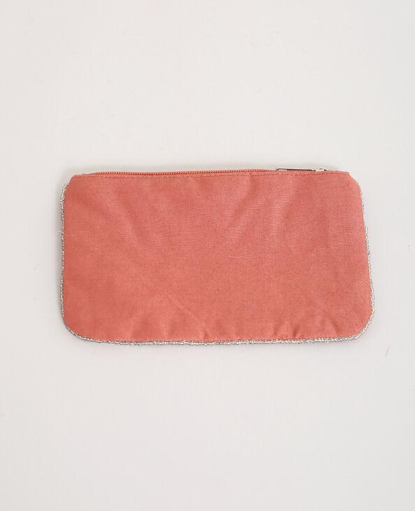 Petite prochette brodée rose