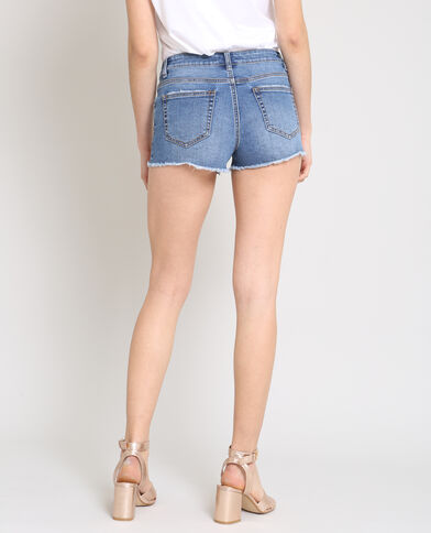 Short court bleu denim